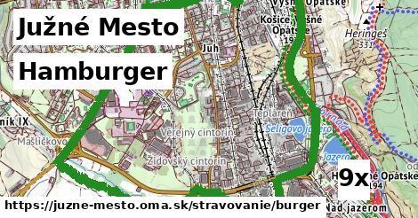 hamburger v Južné Mesto