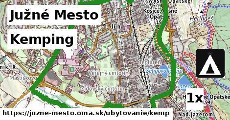 kemping v Južné Mesto