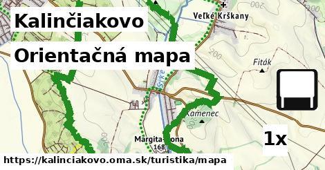 orientačná mapa v Kalinčiakovo