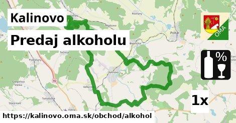 predaj alkoholu v Kalinovo