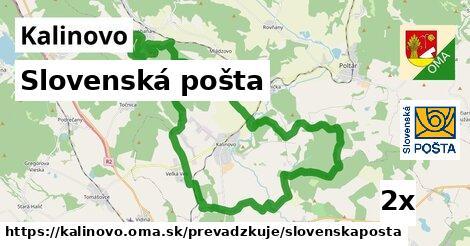ilustračný obrázok k Slovenská pošta, Kalinovo