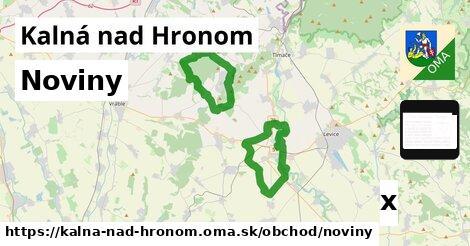 noviny v Kalná nad Hronom
