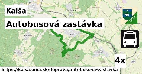 ilustračný obrázok k Autobusová zastávka, Kalša