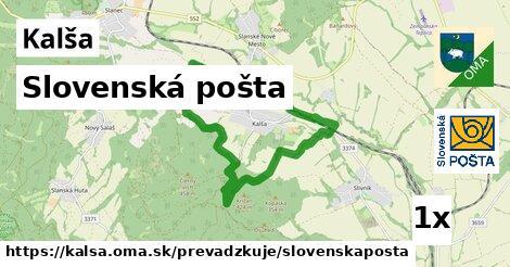 ilustračný obrázok k Slovenská pošta, Kalša