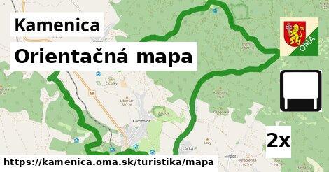 orientačná mapa v Kamenica