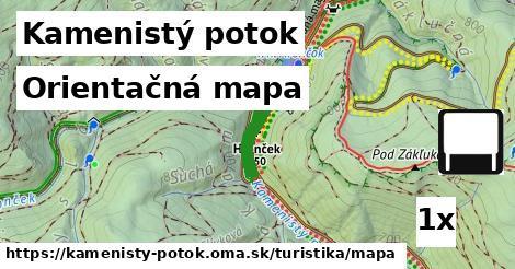 orientačná mapa v Kamenistý potok