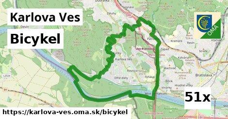 bicykel v Karlova Ves