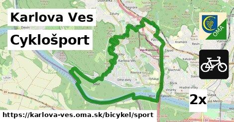 cyklošport v Karlova Ves