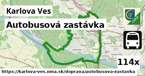 autobusová zastávka v Karlova Ves