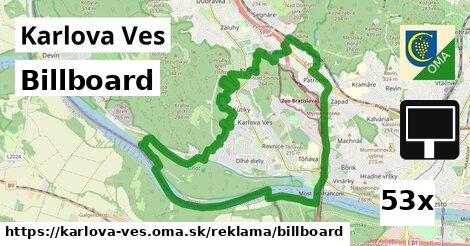 billboard v Karlova Ves