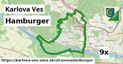 hamburger v Karlova Ves