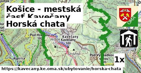 horská chata v Košice - mestská časť Kavečany