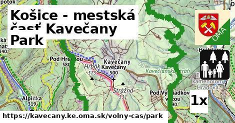 park v Košice - mestská časť Kavečany