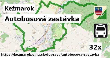 autobusová zastávka v Kežmarok