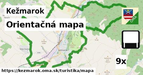 orientačná mapa v Kežmarok