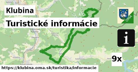 ilustračný obrázok k Turistické informácie, Klubina