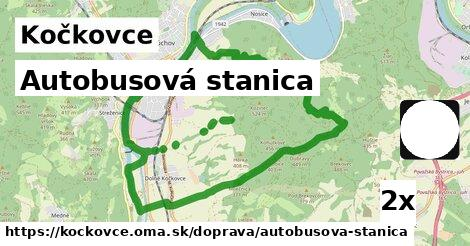 autobusová stanica v Kočkovce