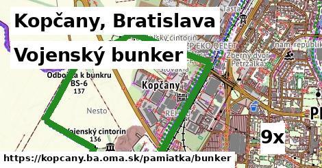 vojenský bunker v Kopčany, Bratislava