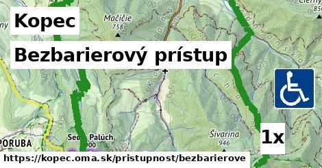 bezbarierový prístup v Kopec
