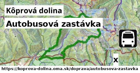 autobusová zastávka v Kôprová dolina