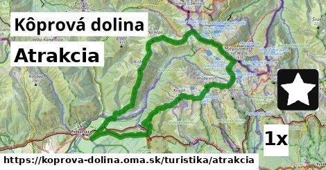 atrakcia v Kôprová dolina