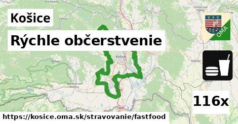 rýchle občerstvenie v Košice