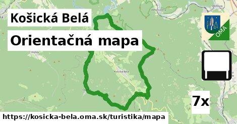 orientačná mapa v Košická Belá