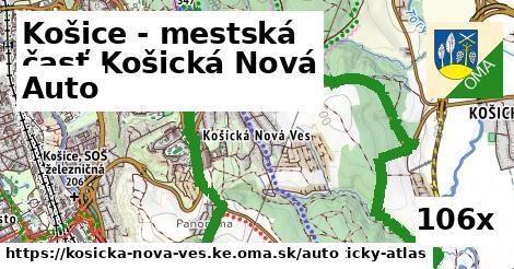 auto v Košice - mestská časť Košická Nová Ves