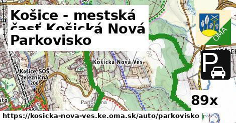 parkovisko v Košice - mestská časť Košická Nová Ves
