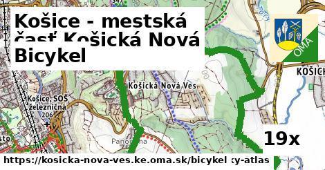 bicykel v Košice - mestská časť Košická Nová Ves