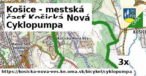 cyklopumpa v Košice - mestská časť Košická Nová Ves