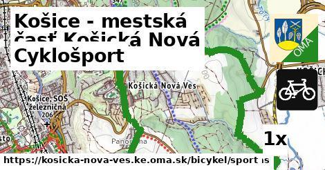 cyklošport v Košice - mestská časť Košická Nová Ves