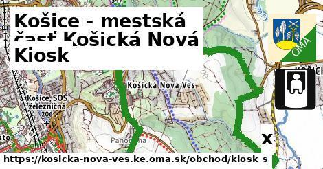 kiosk v Košice - mestská časť Košická Nová Ves