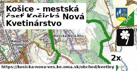 kvetinárstvo v Košice - mestská časť Košická Nová Ves