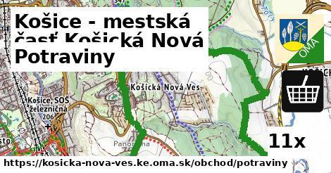 potraviny v Košice - mestská časť Košická Nová Ves
