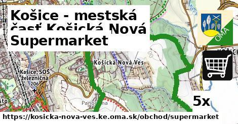 supermarket v Košice - mestská časť Košická Nová Ves
