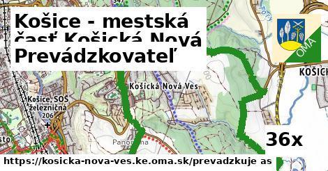 prevádzkovateľ v Košice - mestská časť Košická Nová Ves