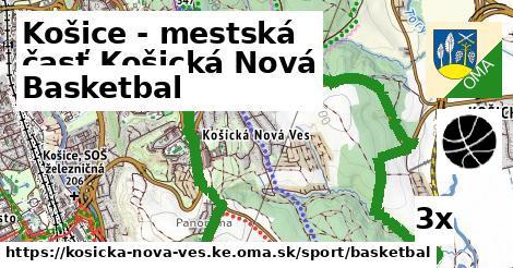 basketbal v Košice - mestská časť Košická Nová Ves