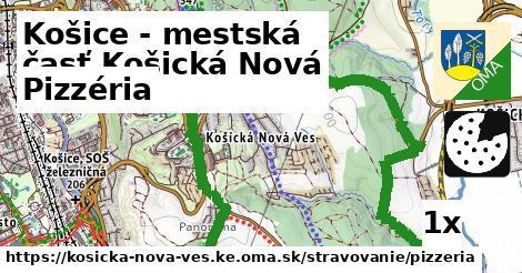 pizzéria v Košice - mestská časť Košická Nová Ves