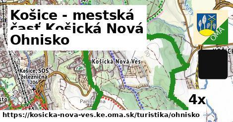 ohnisko v Košice - mestská časť Košická Nová Ves