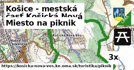 miesto na piknik v Košice - mestská časť Košická Nová Ves