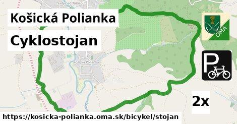 ilustračný obrázok k Cyklostojan, Košická Polianka