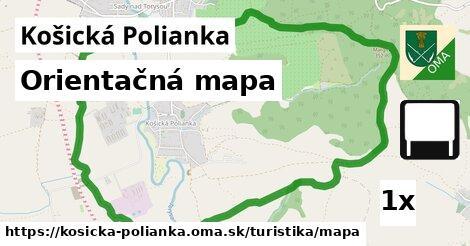 ilustračný obrázok k Orientačná mapa, Košická Polianka