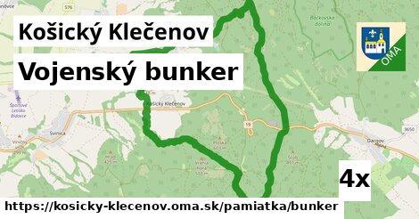 ilustračný obrázok k Vojenský bunker, Košický Klečenov