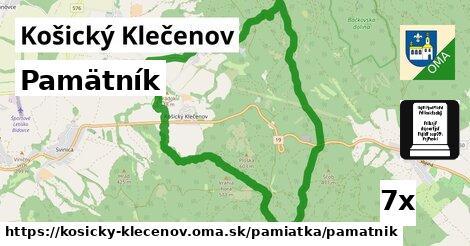 ilustračný obrázok k Pamätník, Košický Klečenov
