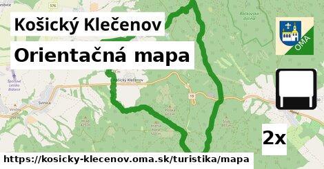 ilustračný obrázok k Orientačná mapa, Košický Klečenov