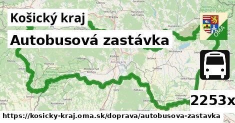 autobusová zastávka v Košický kraj