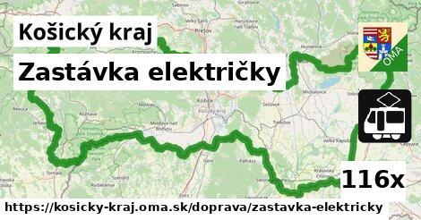 zastávka električky v Košický kraj