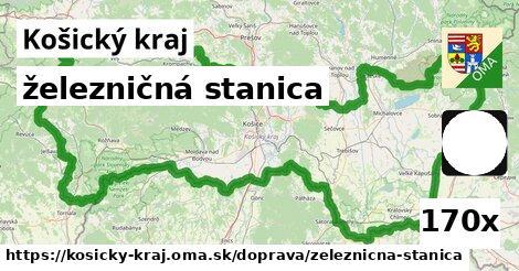 železničná stanica v Košický kraj