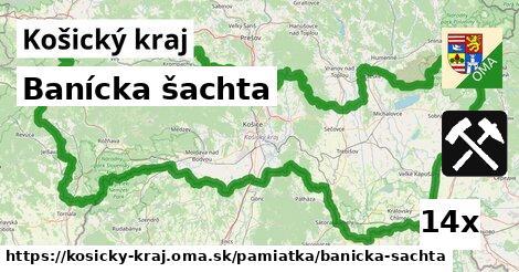 banícka šachta v Košický kraj